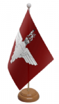 Parachute Regiment Desk / Table Flag with wooden stand and base